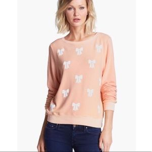 Wildfox Baby Bow Fleece Sweatshirt S